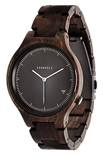 Kerbholz Unisex-Armbanduhr Analog Quarz Kunstleder 104001V000003