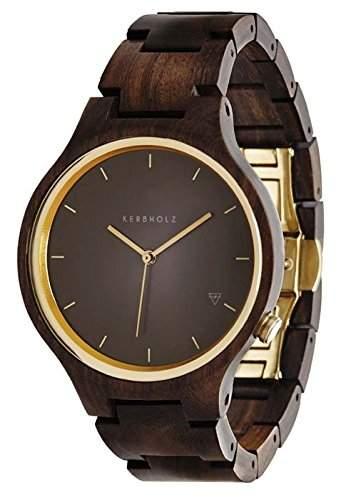Kerbholz Unisex-Armbanduhr Analog Quarz Kunstleder 104001V000004