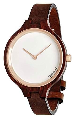 Kerbholz Damen-Armbanduhr Analog Quarz Holz 104006V000004