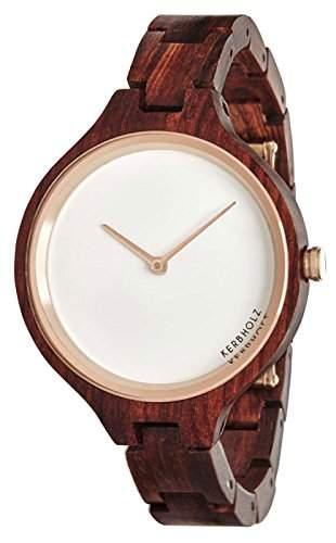 Kerbholz Damen-Armbanduhr Analog Quarz Holz 104006V000003