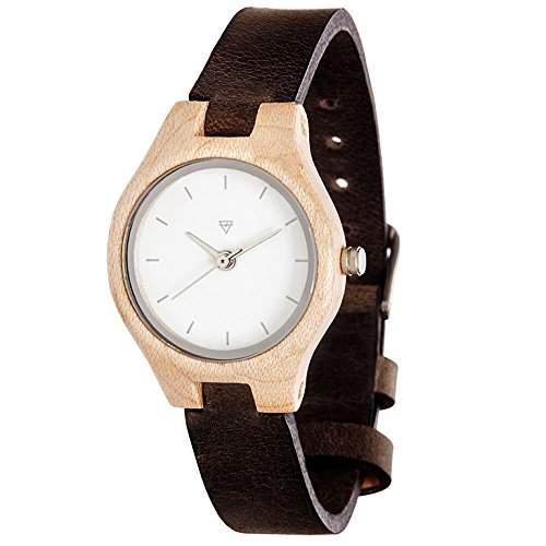 Kerbholz Damen-Armbanduhr Analog Quarz Holz 104005V000002