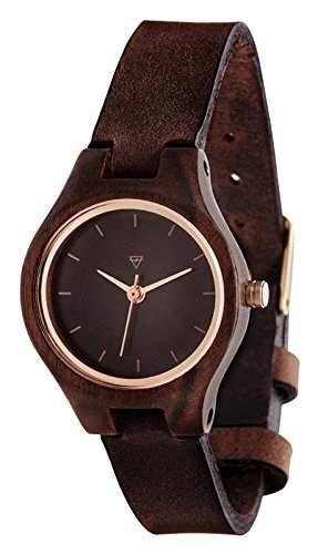 Kerbholz Damen-Armbanduhr Analog Quarz Holz 104005V000006