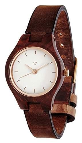 Kerbholz Damen-Armbanduhr Analog Quarz Holz 104005V000004