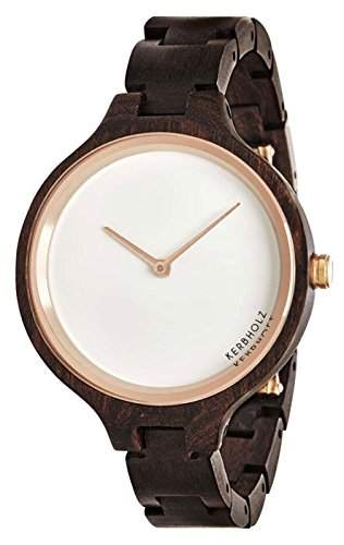 Kerbholz Damen-Armbanduhr Analog Quarz Holz 104006V000005
