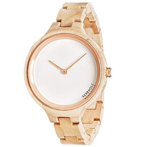 Kerbholz Damen-Armbanduhr Analog Quarz Holz 104006V000001