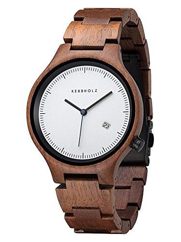Kerbholz Lamprecht Date Walnuss Holz Armbanduhr Lamprecht Date Walnut