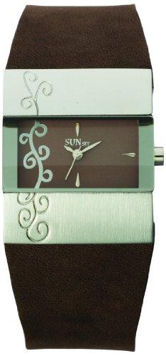 Sunset 1849 Damen Armbanduhr 045J699 Analog braun Armband Leder braun