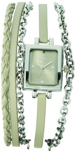 Sunset 2023 Damen Armbanduhr 045J699 Analog beige Armband Leder beige