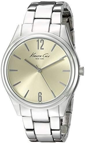 Kenneth Cole Damen 37mm Silber Edelstahl Armband & Gehaeuse Uhr 10021763