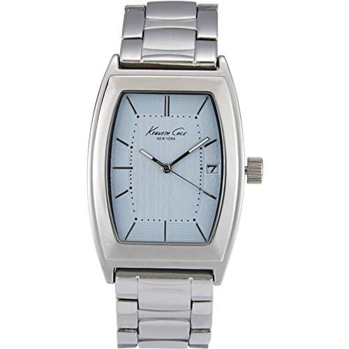 Kenneth Cole Herren-Armbanduhr Armband Edelstahl + Gehaeuse Quarz Zifferblatt Blau Datum Analog 10019425