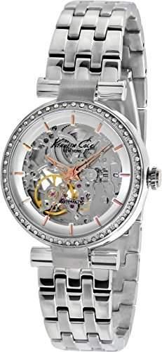 Kenneth Cole Damen-Armbanduhr Automatic Silver Analog Automatik Edelstahl KC10014878