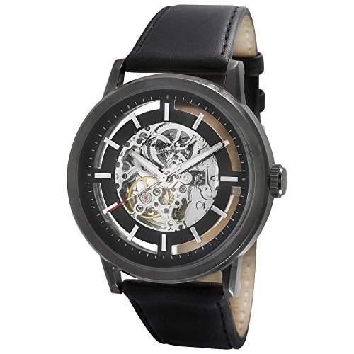 Kenneth Cole Herren-Armbanduhr Automatic Grey Dark Black Chronograph Automatik Leder KC1632