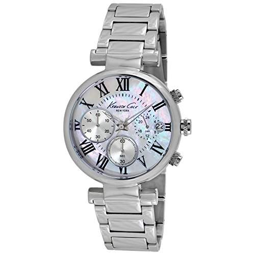 Kenneth Cole Damen-Armbanduhr Dress Sport Silver Chronograph Quarz Edelstahl KC4971