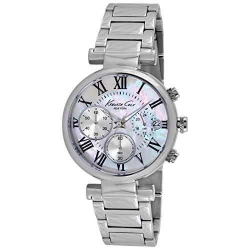 Kenneth Cole Damen-Armbanduhr Dress Sport Silver Chronograph Quarz Edelstahl KC4971