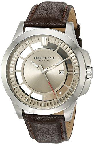 Zeigt Herren Kenneth Cole Modell Transparency grau und braun 10027444