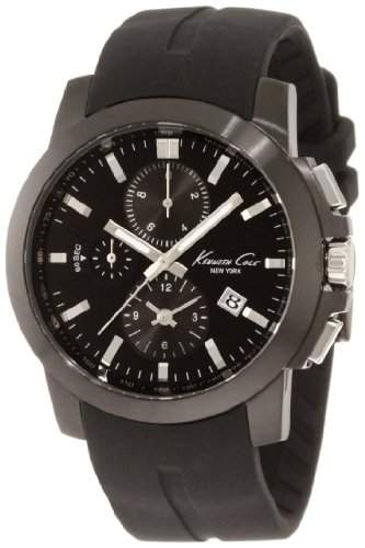 Kenneth Cole Herren-Armbanduhr XL Dress Sport Chronograph Silikon KC1844