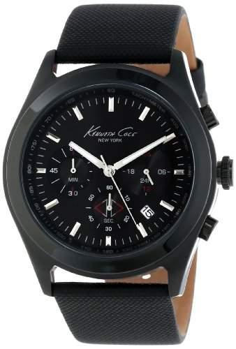 Kenneth Cole Herren-Armbanduhr XL Dress Sport Analog Leder KC1901