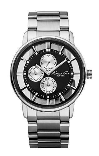 Kenneth Cole Herren-Armbanduhr XL Transparency Analog Edelstahl KC9115