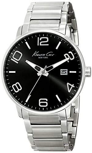Kenneth Cole New York Herren KC9303 Dress Sport Black Dial Analog Bracelet Armbanduhr