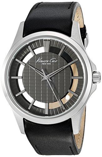 Kenneth Cole New York Herren 10022286 Transparenz Analog Display Japanisches Quartz Black Watch