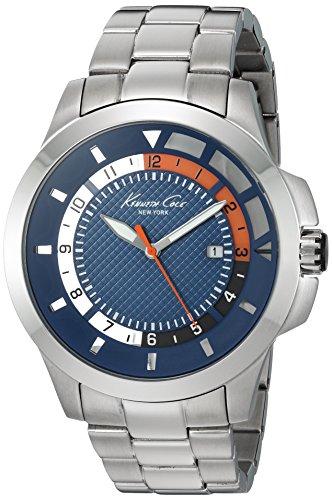 Kenneth Cole New York Herren 10022293 Transparenz Analog Display Japanisches Quartz Silber Uhr