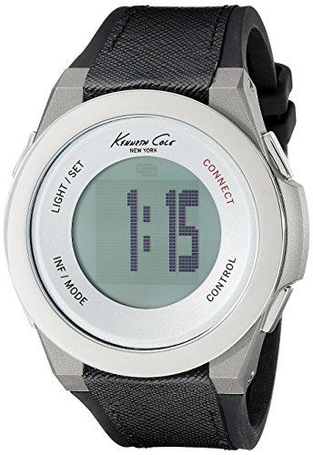 Kenneth Cole New York Unisex 10023867 KC connect Technologie Digital Display Japanisches Quartz Black Watch