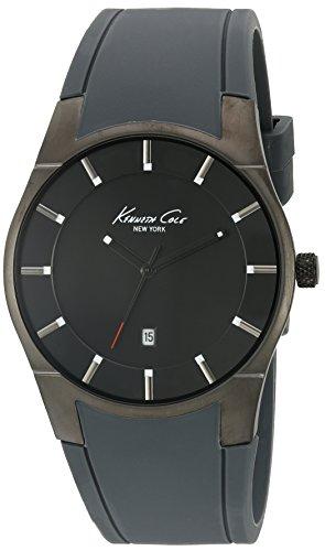 Kenneth Cole 10027723 Herren Schwarz Silikon Band Grau Zifferblatt Smart Uhren