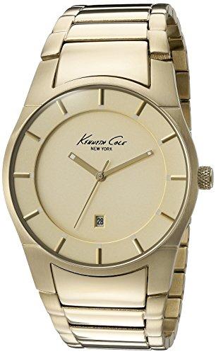 Kenneth Cole New York Herren 10027726 Slim Analog Display Japanisches Quartz Gold Watch