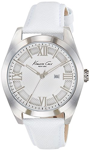 KENNETH COLE 40MM ARMBAND LEDER WEIss QUARZ ANALOG 10021282