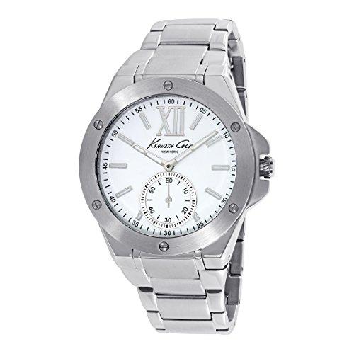 Kenneth Cole Damen Armbanduhr 40mm Armband Edelstahl Gehaeuse Batterie Zifferblatt Weiss Analog 10020844