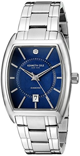 Kenneth Cole Armband Edelstahl Gehaeuse Quarz Zifferblatt Blau Analog 10014806