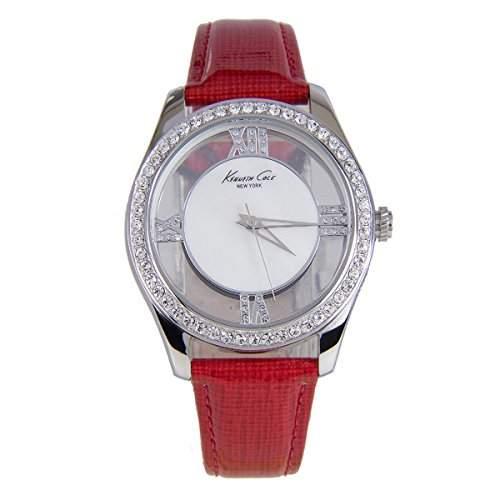 Kenneth Cole Damen-Armbanduhr Armband Leder Gehaeuse Edelstahl Quarz KC2873