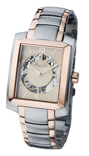 Kenneth Cole KC3798 Mens Two Tone Rose Gold Plated Golden Dial Automatic Watch