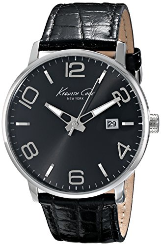 Kenneth Cole New York Mens KC8005 Dress Sport Black Dial Black Strap Analog Watch