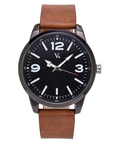 JSDDE Uhren Vintage Klassische Armbanduhr Wasserdicht Einfaches Design Matt Waehl Quarz Uhrwerk Uhr Herren Bahnuhr