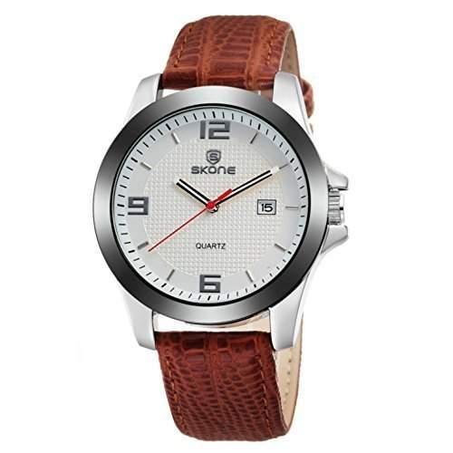 Klassisch Armbanduhr Herren Original Leder Smart Freizeit Uhr