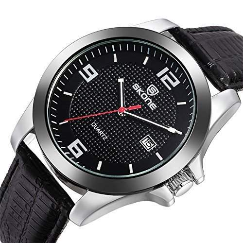 Klassische Herren Original Leder Uhrenarmband Smart Casual Uhr