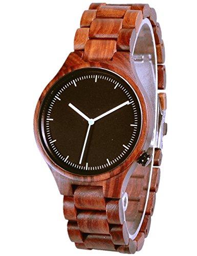 Federleicht Und Stylische Natuerliche Rosenholz Holz Armbanduhr