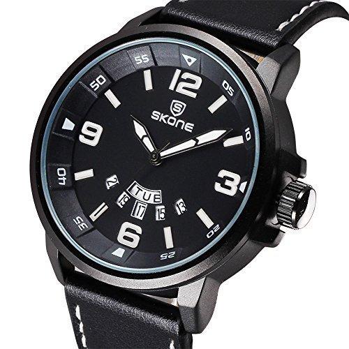 skone m nner business kleid auf mit schwarzem pu lederband und kalender 501101