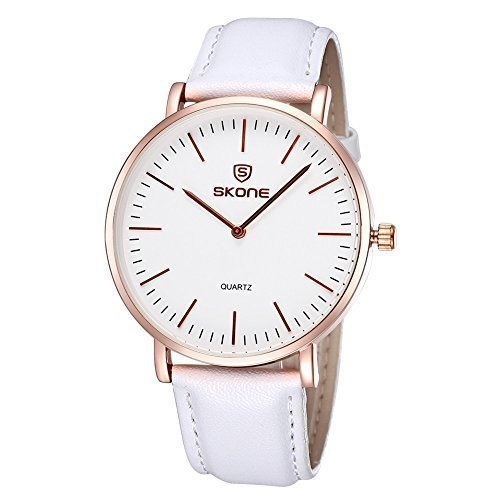 skone untral d nne minimalistischen wei en pu lederband armbanduhr 246803 unisex kleid