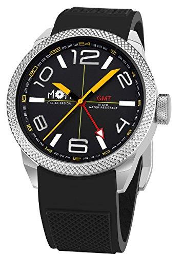 AMS MoM Herren Armbanduhr Modena PM7000 100 Edelstahl schwarz 16 5 x 10 01 x 10 01 cm