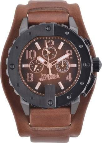 Jean Paul Gaultier Herren-Armbanduhr Analog Quarz Leder 8500203