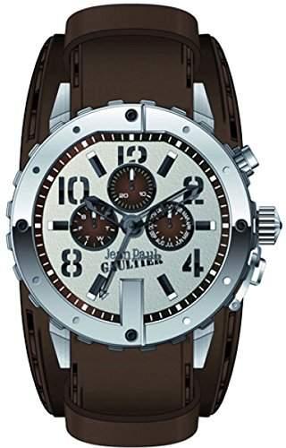 Jean Paul Gaultier Herren-Armbanduhr Analog Quarz Edelstahl 8500205