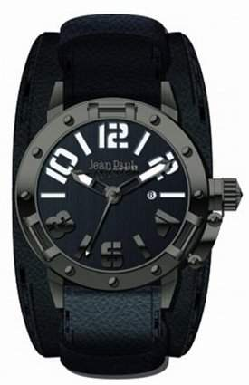 Jean Paul Gaultier Herren-Armbanduhr Analog Quarz Leder 8501703