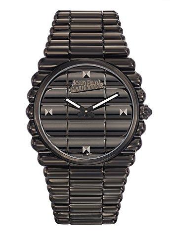Armbanduhr Herren Jean Paul Gaultier Rand Kueste Armband Stahl schwarz 40 mm 8504203