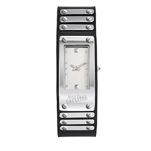 Armbanduhr Jean Paul Gaultier FACTORY Stahl Armband Leder Schwarz 40 21 mm 8503801