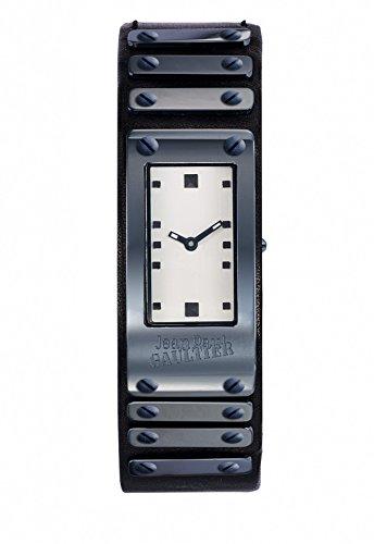 Armbanduhr Jean Paul Gaultier FACTORY Stahl PVD Armband Leder Schwarz 40 21 mm 8503804
