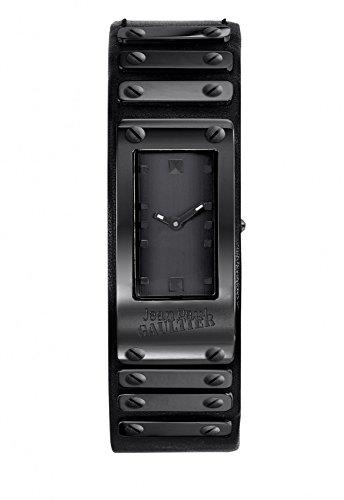 Armbanduhr Jean Paul Gaultier FACTORY Stahl PVD Armband Leder Khaki Militaerische 40 21 mm 8503802
