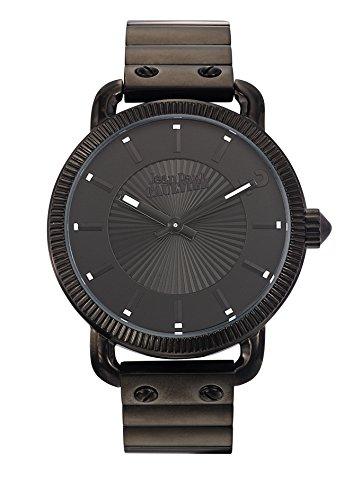 Armbanduhr Herren Jean Paul Gaultier Index Stahl PVD schwarz 45 mm 8504402