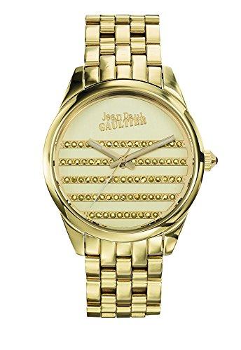 Zeigt Damen Jean Paul Gaultier Navy Armband PVD Stahl Gold 37 mm 8502405